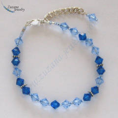 Capri blue and light sapphire swarovski crystal bracelet