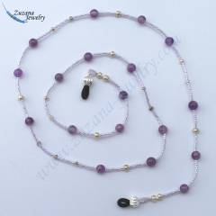 Rainbow fluorite eyeglass chain