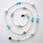 Blue turquoise eyeglass chain