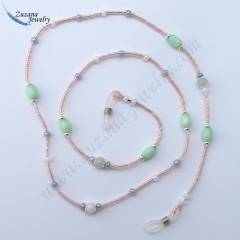 Luster pink eyeglass chain