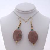 Crazy horse stone earrings