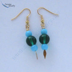 Round glass bead earrings