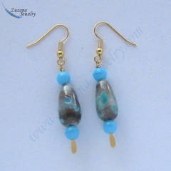 Drop glass beaded earrings