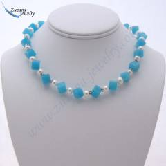 Cube turquoise necklace