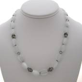 White and silver necklace