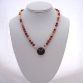 Red agate beaded necklace