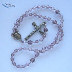 Levander glass stringed rosary