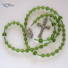 Olivine glass rosary