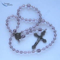 Levander glass rosary