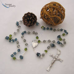 Olive green and montana blue rosary