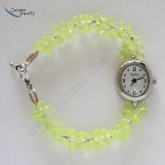 Bright yellow beaded watch